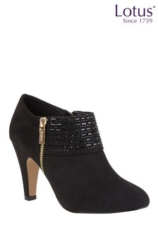 Lotus Side Zip Detail Shoe Boots