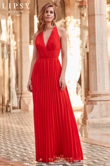 Lipsy VIP Premium Pleated Maxi Dress