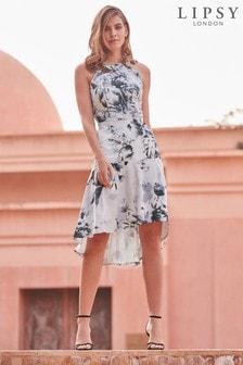 Satynowa sukienka midi Lipsy VIP Mono Tori z nadrukiem