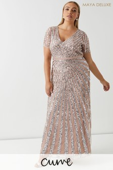 Maya Curve Embellished Maxi Dress