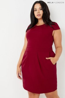 Mela London Curve Cap Sleeve Tulip Dress