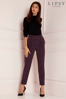 Lipsy Tailored Belted Trousers