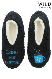 "Wild Feet ""Bring Me Coffee"" Slippers"