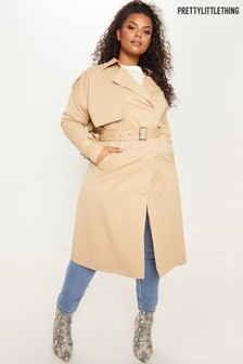 PrettyLittleThing Plus Classic Trench Coat