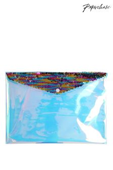 Paperchase Mermaid Squad A4 Sequin Popper Wallet