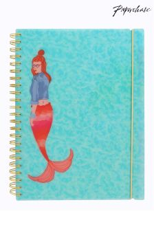 Paperchase Mermaid Squad A4 Mermaid Subject Notebook