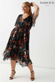 Scarlett & Jo Asymmetric Hem Dress