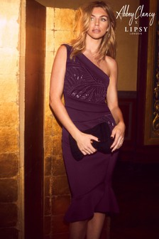 Abbey Clancy x Lipsy One Shoulder Bodycon Dress