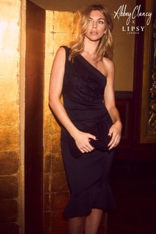 Abbey Clancy x Lipsy Petite One Shoulder Bodycon Dress