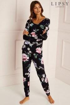 Lipsy Floral Long Pyjama Set