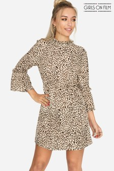 Girls On Film Leopard Print Dress