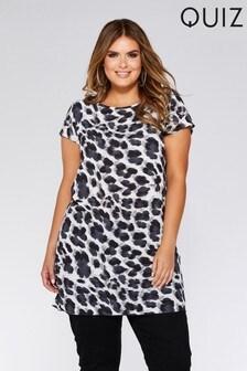 Quiz Curve Animal Print Tunic Dress