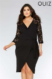 Quiz Curve Lace Wrap Dress