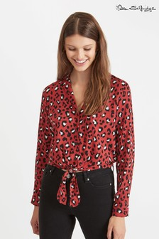 Miss Selfridge Open Collar Animal Print Shirt