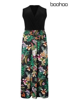 Boohoo Plus Floral Maxi Dress