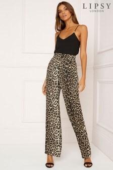 Lipsy Leopard Satin Trouser
