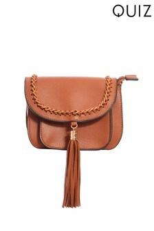 Quiz Tassel Crossbody Bag