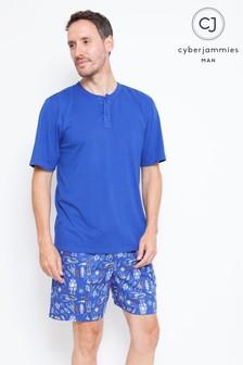 Пижамный комплект с футболкой и шортами Cyberjammies