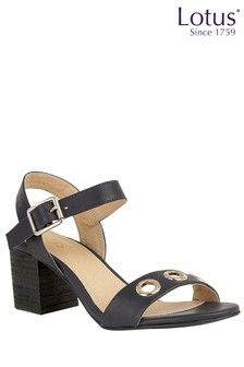 Lotus Block Heel Sandals