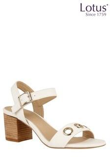Lotus Block Heel Sandals