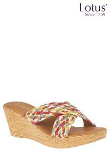 Lotus Cork Effect Casual Sandals