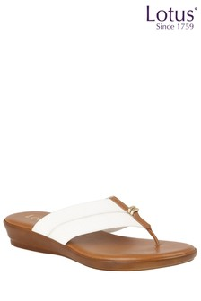 Lotus Toe Post Wedge Sandals