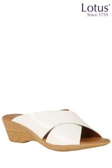 Lotus Cork Effect Mule Sandals