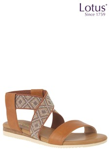 Lotus Bead Effect Gladiator Sandals