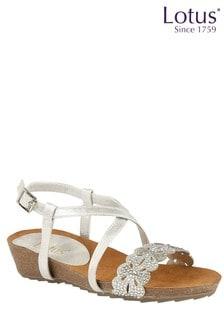 Lotus Diamanté Toe Post Sandals