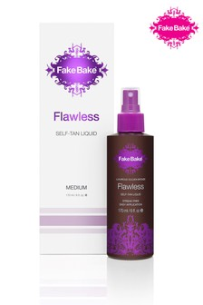 Fake Bake Flawless Medium Self Tan Liquid 170ml With Mitt