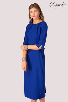 Closet 3/4 Sleeves Midi Bow Dress
