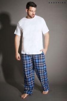 מכנסי פיג'מה משובצים מבד ארוג של Bad Rhino