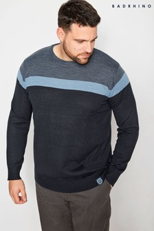 Bad Rhino Jumper Block Stripe Jumper