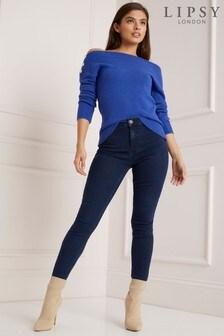 Lipsy Selena Skinny-Jeans mit hoher Taille und kürzerem Schnitt