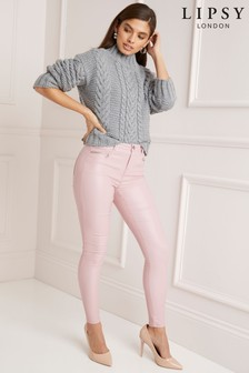 Lipsy Kate Mid Rise Skinny Coated Long Length Jean