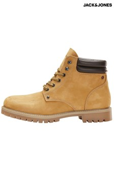 Jack & Jones Leather Worker Boots