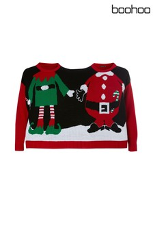 Boohoo Two Person Christmas Jumper