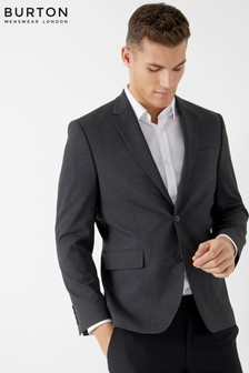 Burton Tailored Navy Stretch Suit Jacket