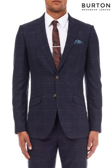 Burton Slim Fit Check Suit Jacket