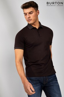 Burton Jacquard Collar Polo T-Shirt