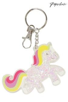 Paperchase Unicorn Glitter Keychain
