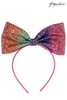 Paperchase Glitter Rainbow Bow Headband