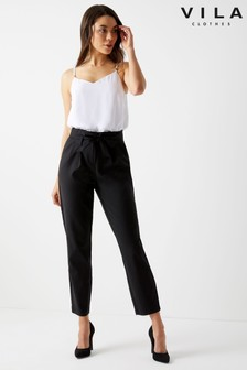 Vila Slim Coated Pant