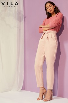 Vila High Waisted Tailored Trousers