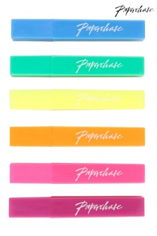 Paperchase 6 Mini Neon Highlighters