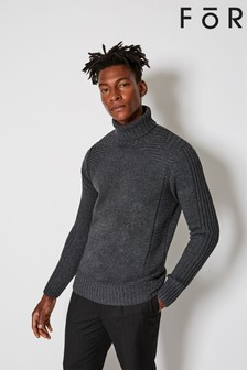 For Roll Neck Knit Jumper
