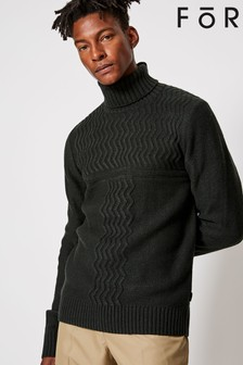 For Zig Zag Knit Jumper