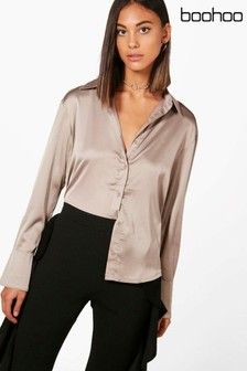 Boohoo Satin Shirt