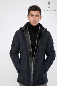 2nd Chapter Faux Fur Lined Collar Jacket