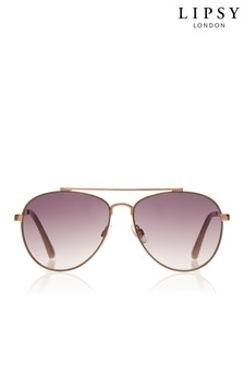 Lipsy Diamanté Arm Aviator Sunglasses